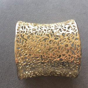 Kendra Scott Gold Filigree Cuff Bracelet